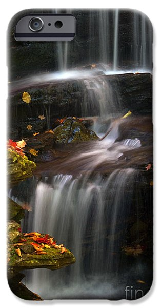 Impressions Of Light iPhone Cases - Falls and Fall Leaves iPhone Case by Paul W Faust -  Impressions of Light