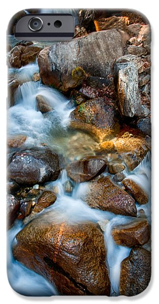 Creek iPhone Cases - Falls and Rocks iPhone Case by Cat Connor