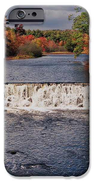 Reflections In River iPhone Cases - Falls Color iPhone Case by Joann Vitali
