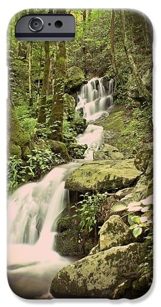 Falls In The Smokies iPhone Case by Marty Koch
