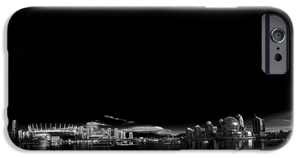 Creek Pyrography iPhone Cases - False Creek Panorama iPhone Case by Jack Vainer