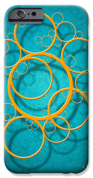 Abstract Digital Digital Art iPhone Cases - Family Circles iPhone Case by Cristophers Dream Artistry