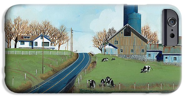 Silos iPhone Cases - Family Dairy iPhone Case by John Wyckoff