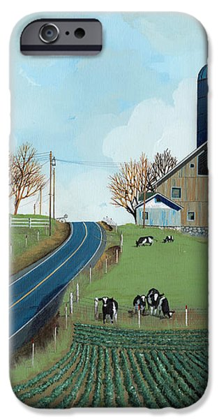 Family Dairy iPhone Case by John Wyckoff