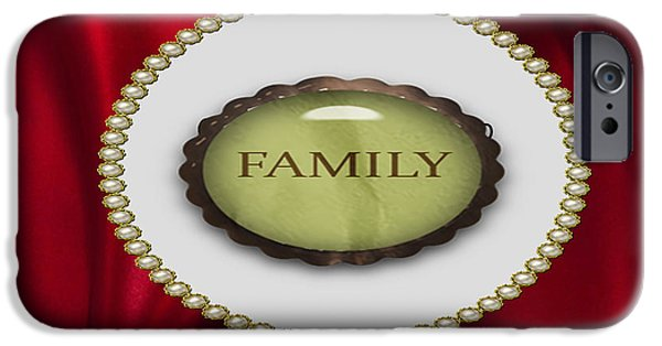 Multimedia iPhone Cases - Family Is All iPhone Case by Tina M Wenger
