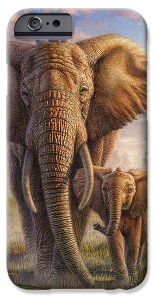 Fog Mist Mixed Media iPhone Cases - Family Stroll iPhone Case by Phil Jaeger