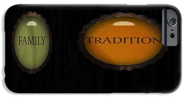 Multimedia iPhone Cases - Family Tradition iPhone Case by Tina M Wenger