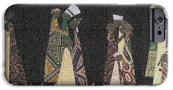 Couple Tapestries - Textiles iPhone Cases - Family Traditions iPhone Case by Ruth Yvonne Ash