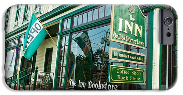 Popular iPhone Cases - Famous Bookstore and Inn on the Library Green Westport New York iPhone Case by Robert Ford