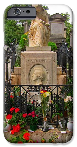Cemetary iPhone Cases - Famous European Cemetary iPhone Case by John Malone