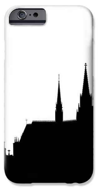 famous landmarks of Prague iPhone Case by Michal Boubin