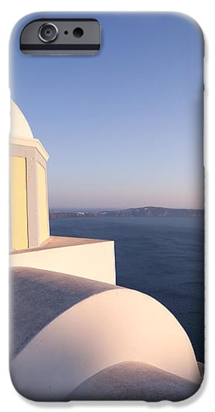 Famous orthodox church in Santorini Greece at sunset iPhone Case by Matteo Colombo