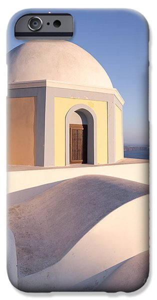 Greek Icon iPhone Cases - Famous orthodox church in Santorini Greece iPhone Case by Matteo Colombo