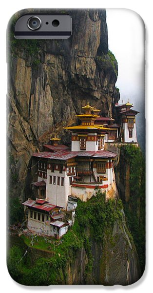 Best Sellers -  - Tibetan Buddhism iPhone Cases - Famous tigers nest monastery of Bhutan iPhone Case by Lanjee Chee