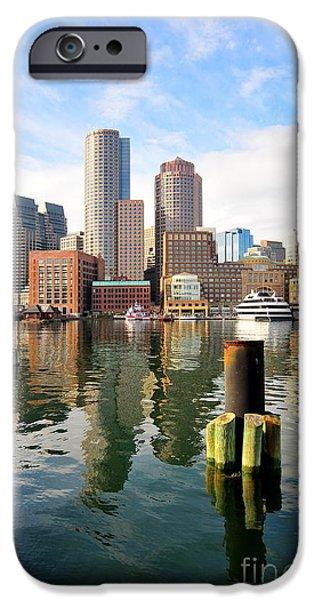 Boston iPhone Cases - Fan Pier Boston iPhone Case by Catherine Reusch  Daley