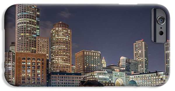 Tea Party iPhone Cases - Fan Pier Boston MA on a hot July night iPhone Case by Bryan Xavier