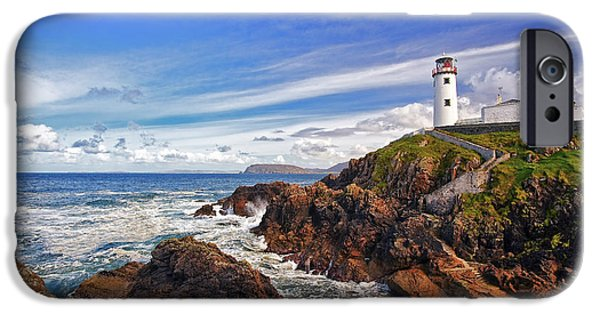 United iPhone Cases - Fanad Lighthouse iPhone Case by Marcia Colelli