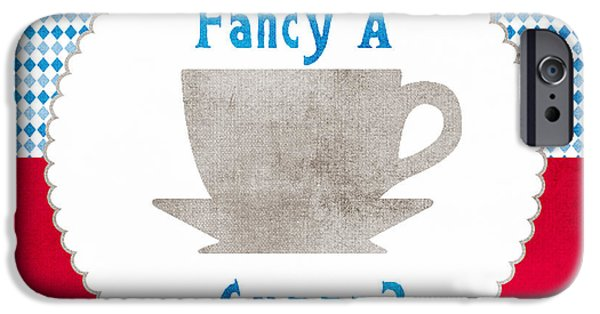 Office iPhone Cases - Fancy a Cup iPhone Case by Linda Woods
