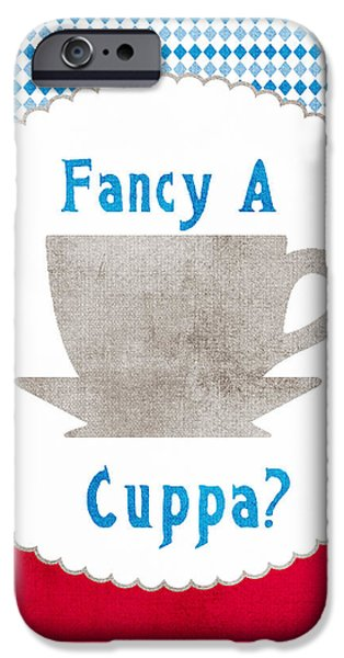 Fancy a Cup iPhone Case by Linda Woods