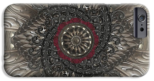 Filigree iPhone Cases - Fancy iPhone Case by April Moen