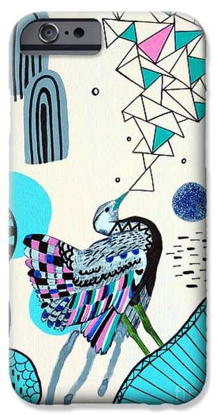 Surreal Illustration Digital iPhone Cases - Fancy Face iPhone Case by Susan Claire