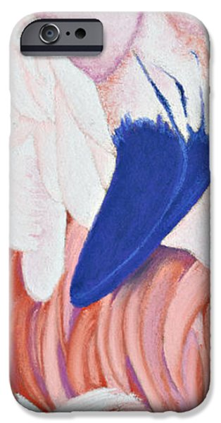 Pink Pastels iPhone Cases - Fandango I Flamingo iPhone Case by Tracy L Teeter