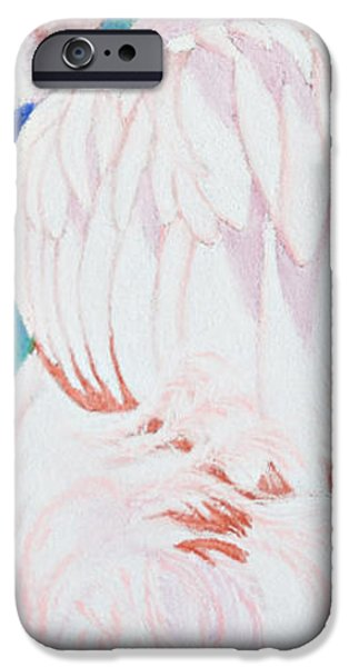 Pink Pastels iPhone Cases - Fandango II Flamingo iPhone Case by Tracy L Teeter
