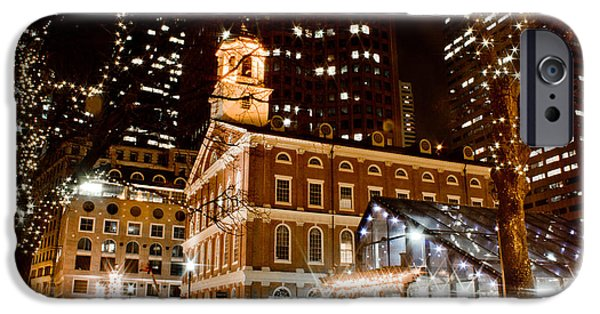 City. Boston iPhone Cases - Faneuil Hall Boston MA  iPhone Case by John McGraw