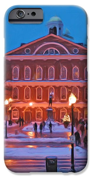 Faneuil Hall Holiday- Boston iPhone Case by Joann Vitali
