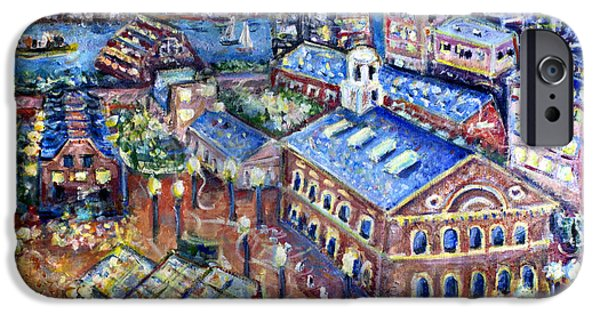 Cambridge Paintings iPhone Cases - Faneuil Hall iPhone Case by Jason Gluskin