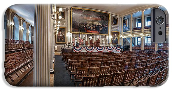 American Revolution iPhone Cases - Faneuil Hall iPhone Case by Scott Thorp
