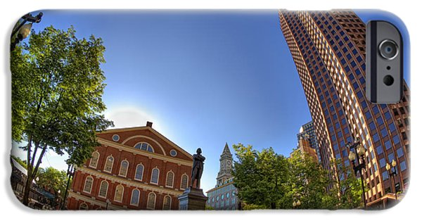 Tea Party iPhone Cases - Faneuil Hall Square iPhone Case by Joann Vitali