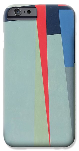 Modern Abstract iPhone Cases - Fanfare, 1974 Acrylic On Gouache And Pencil iPhone Case by George Dannatt
