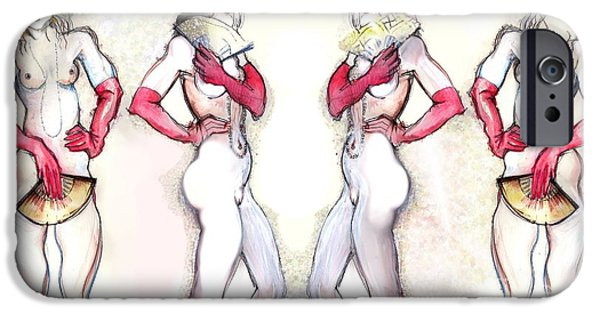 Erotic Dancer iPhone Cases - Fanfare iPhone Case by Carolyn Weltman