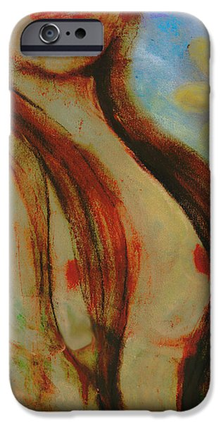 Innocence Pastels iPhone Cases - Fanning Flames iPhone Case by Melissa Osborne