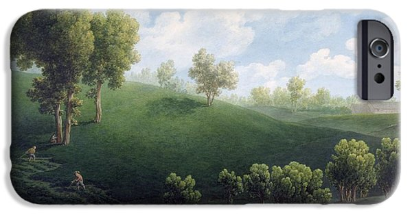 19th Century iPhone Cases - Fantastic Landscape iPhone Case by Giuseppe Pietro Bagetti