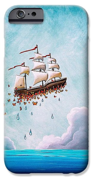 Ships iPhone Cases - Fantastic Voyage iPhone Case by Cindy Thornton