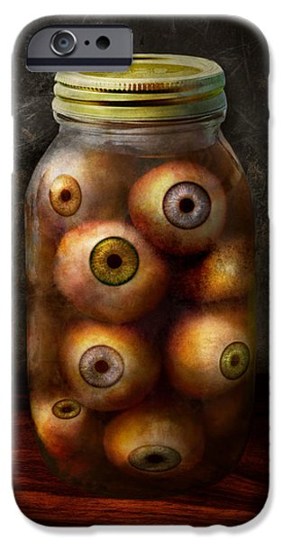 Suburban Digital Art iPhone Cases - Fantasy - Creepy - Ive always had eyes for you iPhone Case by Mike Savad