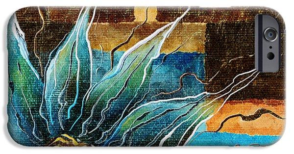 Brenda Bryant iPhone Cases - Fantasy Floral Abstract iPhone Case by Brenda Bryant