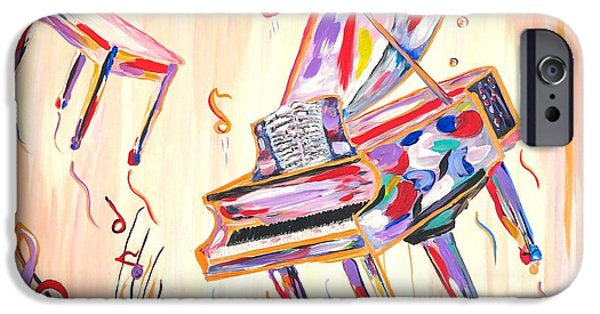 Piano iPhone Cases - Fantasy Impromptu iPhone Case by Phyllis Kaltenbach
