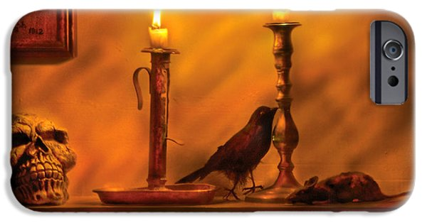 Halloween iPhone Cases - Fantasy - In a Wizards House iPhone Case by Mike Savad