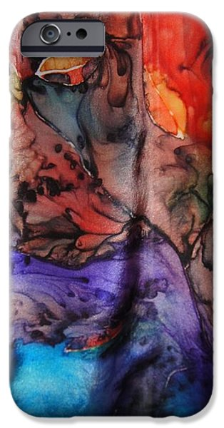 Abstracted Tapestries - Textiles iPhone Cases - Silk-12 iPhone Case by Julia Shapiro