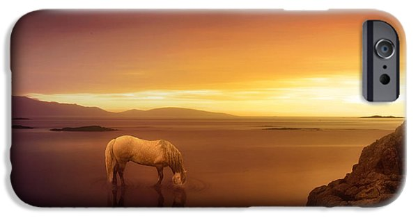 Horse Digital Art iPhone Cases - Fantasy Land iPhone Case by Jennifer Woodward