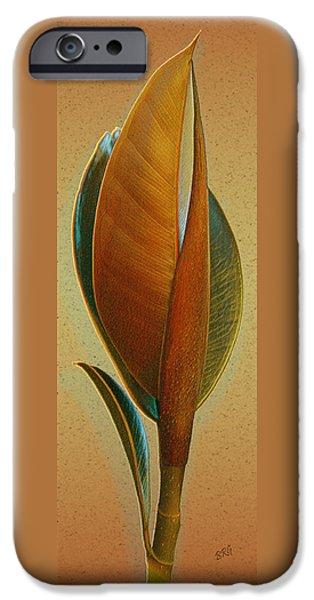 Fantasy Leaf iPhone Case by Ben and Raisa Gertsberg