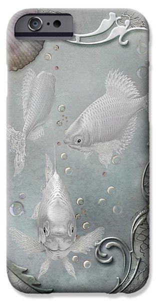 Bathroom Prints iPhone Cases - Fantasy Ocean 2 iPhone Case by Carol Cavalaris