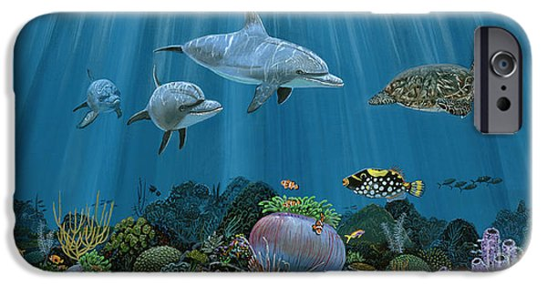 Marine iPhone Cases - Fantasy Reef Re0020 iPhone Case by Carey Chen