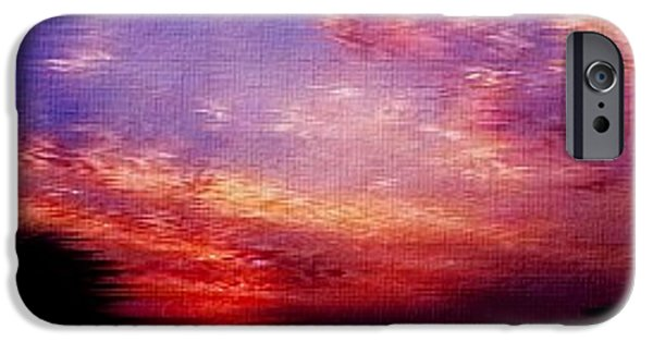 Business Paintings iPhone Cases - Fantasy Sunset H b iPhone Case by Gert J Rheeders