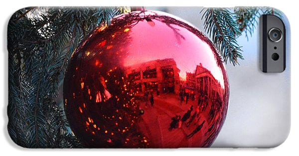 Oxford. Oxford Ma. Massachusetts iPhone Cases - Faneuil Hall Christmas Tree Ornament iPhone Case by Toby McGuire