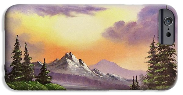 Bob Ross Paintings iPhone Cases - Sun and Shadow iPhone Case by Gavin Kutil