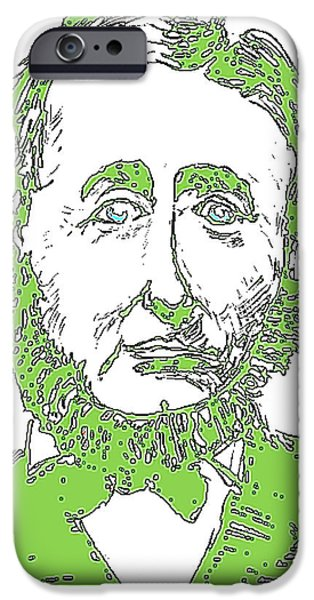 Henry David Thoreau iPhone Cases - Far From Walden iPhone Case by Will  Carlson